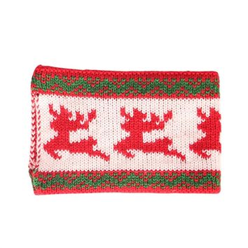 Christmas Reindeer Knitted Wool Cup Holder