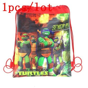 Ninja Turtles 1Pcs Backpack Gift Bag Non-woven Fabrics Kid Bags Cute Cartoon Style Back Packs Storage Back Pack Favor School