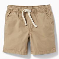 Twill Pull-On Shorts for Baby|old-navy