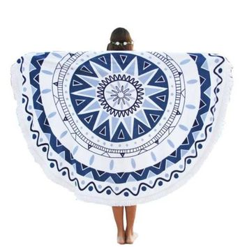 Newly High Quality Round Hippie Tapestry Beach Throw Roundie Mandala Towel Yoga Mat Bohemian Cotton Wall Hanging Free Size Nov3e