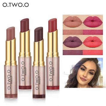 O.TWO.O Sexy Waterproof Moisturizing Matte Lipstick Lip Gloss Cosmetics Easy Wear Smooth Long Lasting Makeup Lipstick Popular