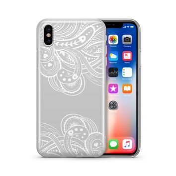 Hazel Henna Paisley - Clear TPU Case Cover Phone Case