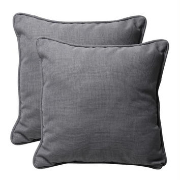 2 Gray Throw Pillows - Made In U.s.a