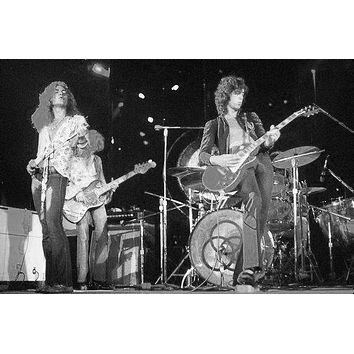 Led Zeppelin poster Metal Sign Wall Art 8in x 12in Black and White