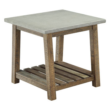 Coast to Coast Distressed End Table - Brown