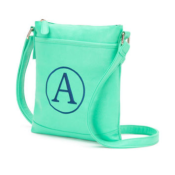 Mint Green Crossbody Purse Wallet  - Monogrammed Personalized