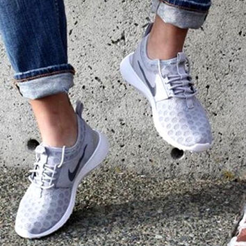 """Nike"" Fashion Women Sport Shoes Casual Sneakers honeycomb Gray"