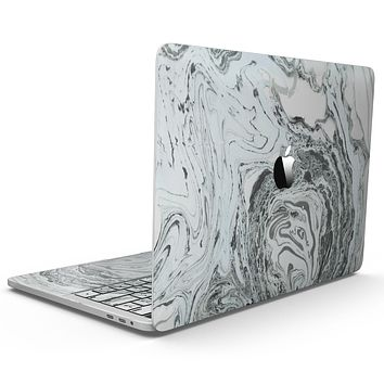 Mixtured Mint and Gray v3 Textured Marble - MacBook Pro with Touch Bar Skin Kit