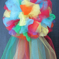 Party Birthday Tulle Bow Multi-color