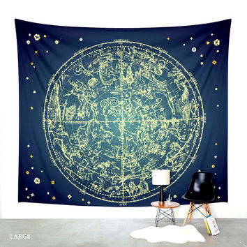 Zodiac Signs. Wall Tapestry. Wall Hanging Tapestry. Star Gazing. Astronomy. Astrology. Wall Decor. Taurus. Gemini. Cancer. Leo. Virgo. Libra