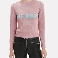 Saturday Lurex Pink Sweater