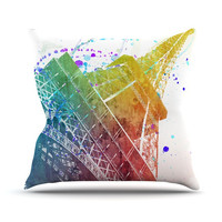 "Nika Martinez ""Paris Je T'aime"" Outdoor Throw Pillow, 20"" x 20"" - Outlet Item"