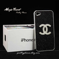 For iphone 4 case This is one Art cute coolest and best black Chanel flash powder iphone 4 cases