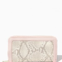 Faux Snake Zip Around Wallet | Charming Charlie