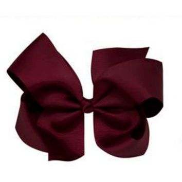 Grosgrain Boutique Hairbow, Burgundy