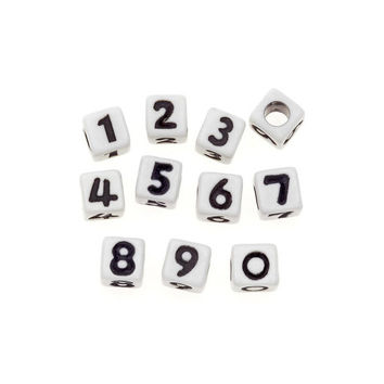 Numbered Jewelry Beads