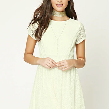 Lace Skater Mini Dress