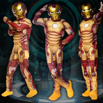 Children Boys The Avengers Iron Man Cosplay Jumpsuit Superman Superhero Costumes