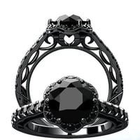 Victorian inspired 14k Black Gold and Black Diamond Engagement Ring Wedding Ring 1.3 ct VVS Black Diamond W19BK14BK