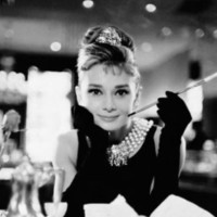Audrey Hepburn Movie (Breakfast at Tiffany's, With Cigarette) 24x36 Poster Art Print