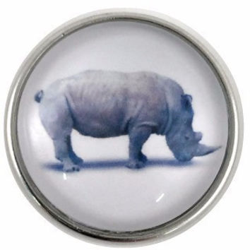 Rhino Snap Charm 20mm for Snap Charm Jewelry