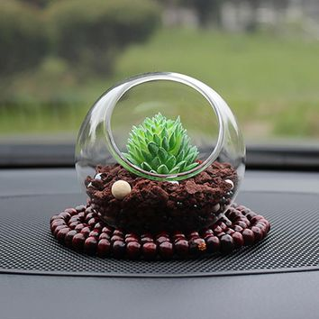Car-Styling Artificial Plants Car Dashboard Decoration Ornament Creative Cute Zeolite Stone Automobile Interior Air Freshener
