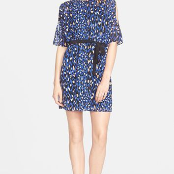 Women's Trina Turk 'Tobi' Print Split Sleeve Stretch Silk Dress,
