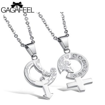 Couple Necklace Sun Moon Pendant For Men Women