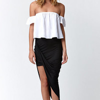 LA Hearts Draped Asymmetrical Skirt at PacSun.com