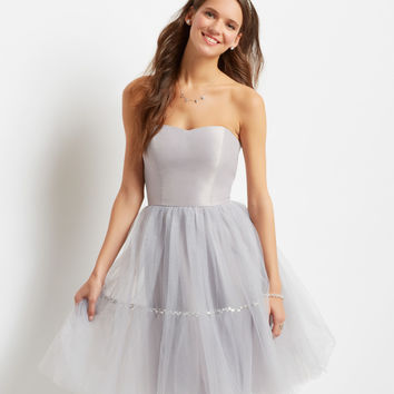 Tulle Tutu Strapless Dress