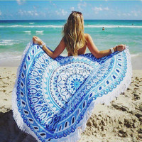Boho Hippie Summer Swimwear Bathing Suit Beach Cover Up Cloak Bohemia Sexy Kimono