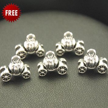 FREE 8pcs Vintage Pumpkin Carriage car Charm Pendants