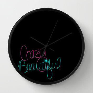 Crazy/Beautiful Wall Clock by Intrinsic Journeys