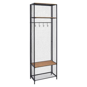 Linon Grid Metal and Wood Locker Coat Rack | Overstock.com Shopping - The Best Deals on Accent Pieces