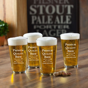 Premium Brew Pint Set - Personalized