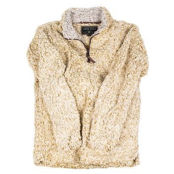 The Original Frosty Tipped Pile 1/2 Zip Pullover in Maize by True Grit - FINAL SALE