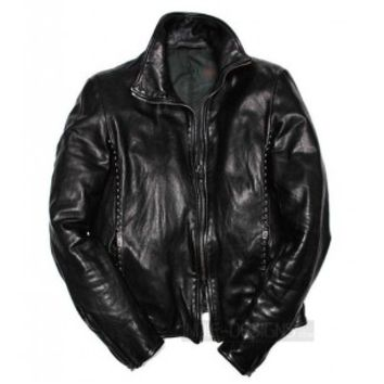 Authentic Incarnation Zip Detail Leather Jacket