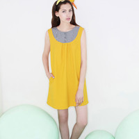 Shift dress, Summer dress, Party dress, Yellow dress, Mini dress, Formal dress, Cocktail dress, Womens dress, country wedding, Mustard dress