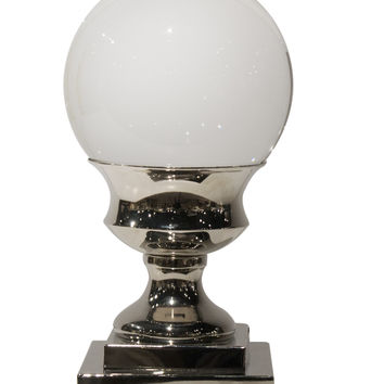 Dessau Home Crystal Ball On Nickle Pedesta - Apl438