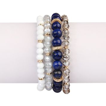 Natural Stone Multibead Stack Bracelet