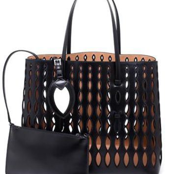 AZZEDINE ALAÏA | Oval Laser Cut Shopper | brownsfashion.com | The Finest Edit of Luxury Fashion | Clothes, Shoes, Bags and Accessories for Men & Women
