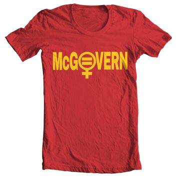 George McGovern Campaign Button T-shirt