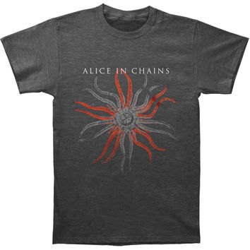 Alice In Chains Men's  Fossilised T-shirt Heather Charcoal