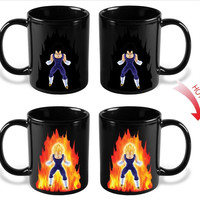 Heat Changing Dragon Ball Z Vegeta Mug