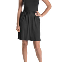 Casual Sleeveless Fit & Flare Dress