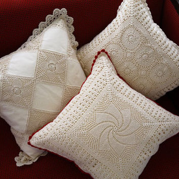 Handmade Crochet Cushion Cover - Home and Wedding Decor - Designer Series - Crochet Pillow