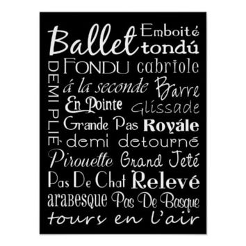 Ballet Subway Art Poster from Zazzle.com