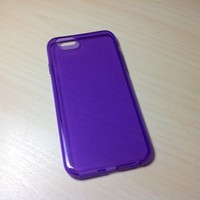 For Apple iphone 6 (4.7 inches) Transparent TPU Soft Silicone case - Purple