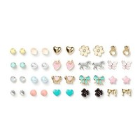 Assorted Girly Shapes Stud Earrings Set of 20 – Claire's