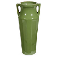 Art Deco-Style Green Tall Vase